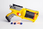 NERF guns: You probably snuck one onto the playground at some point. It's too bad these darts didn't stick to the back of your teacher's head that well.