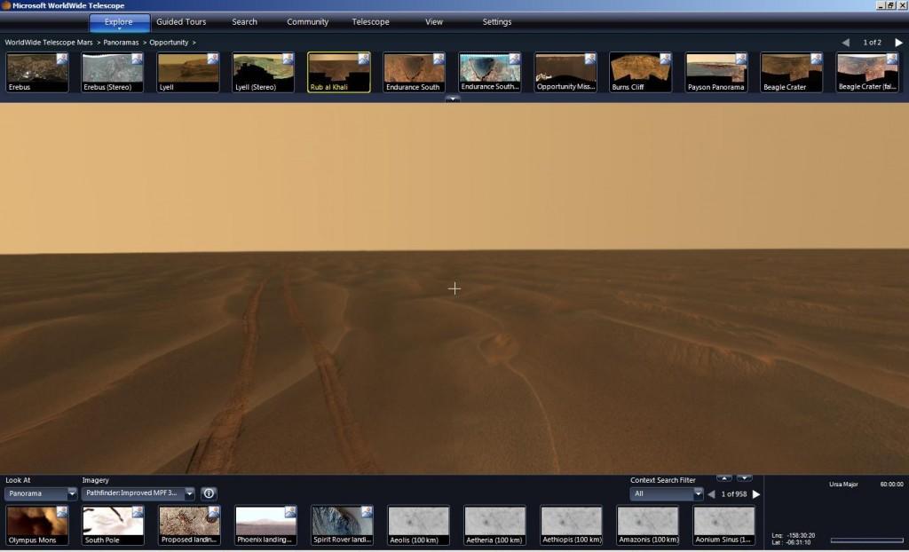 mars rover opportunity tracks rub al khali