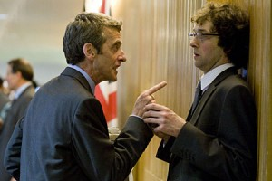 "Malcolm Tucker cornering Ollie/Toby in the film ""In the Loop"""